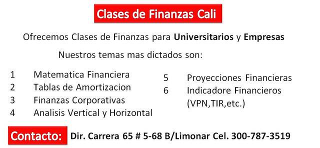 Clases de Finanzas Cali