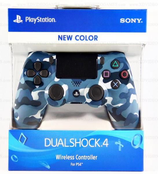 Control Ps4 Camuflado Azul Original Mgc