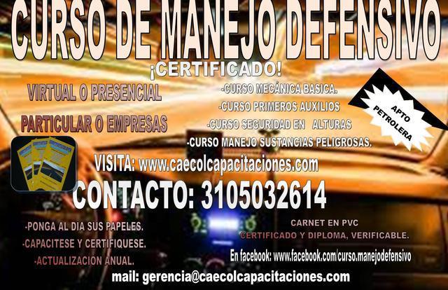 Curso De Manejo Defensivo Y Sustancias Peligrosas
