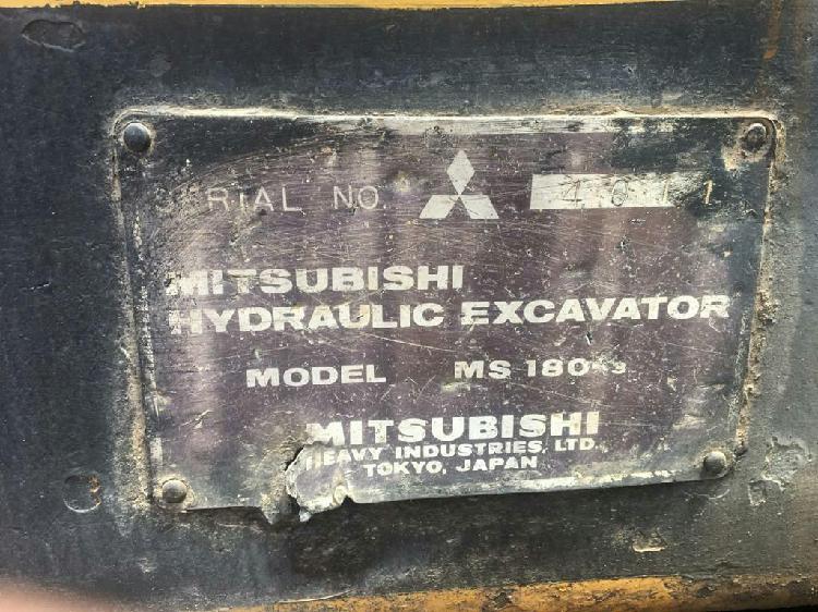 Excavadora Hidráulica Mitsubishi Ms180