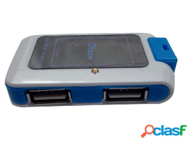 HUB USB 4 puertos Dtech Soporta Discos