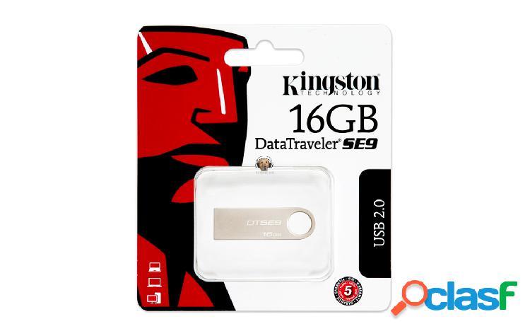 Memoria USB 16 GB Metalica Kingston DTSE9