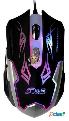 Mouse Optico Alta Precision J&R 1600 dpi 6 Botones