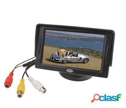 Pantalla LCD Para Carro de 4.3″ Video o Reversa