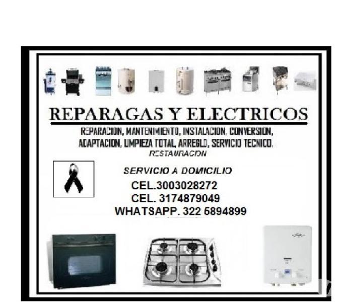 REPARACION, MANTENIMIENTO, INSTALACION DE ESTUFAS a gas
