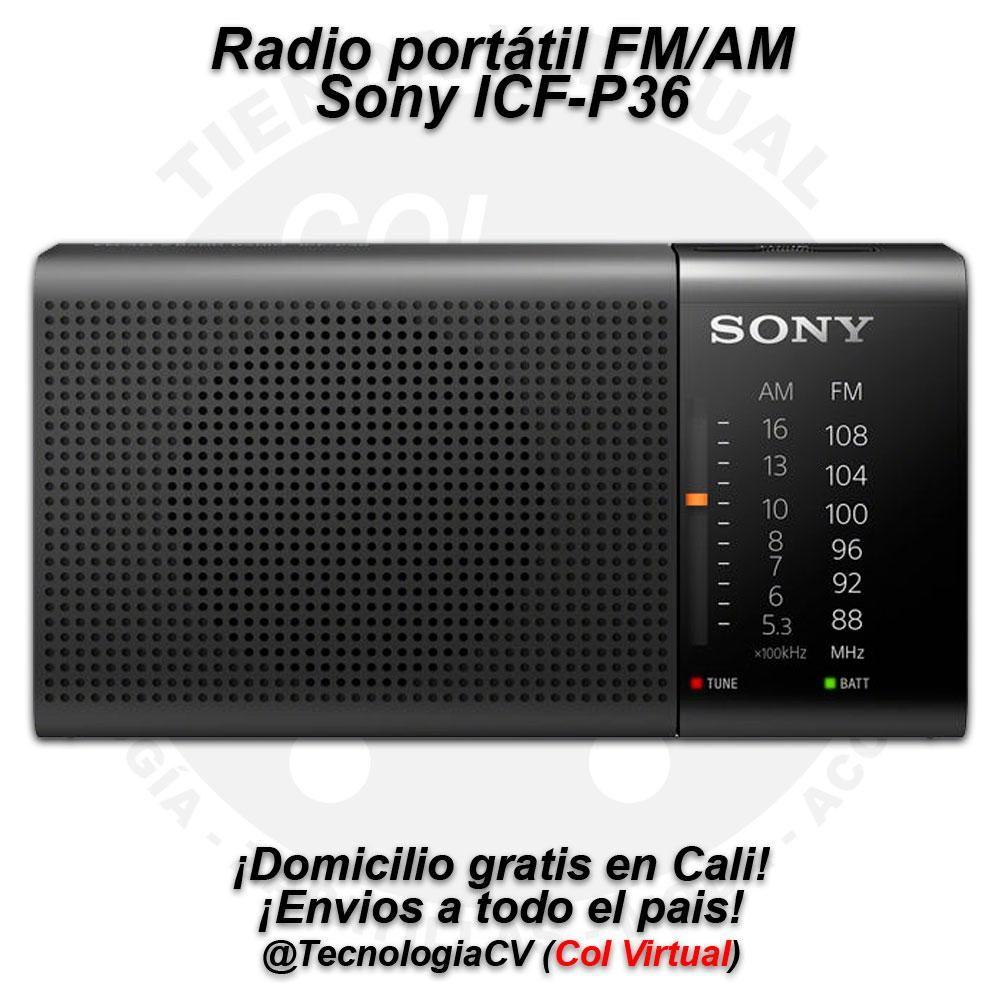 Radio FM AM Sony ICFP36 de bolsillo M0V.P48 R