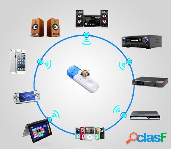 Receptor Bluetooth USB Estereo con Microfono