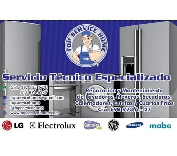 Reparación y Mantenimiento de Lavadoras, Neveras...