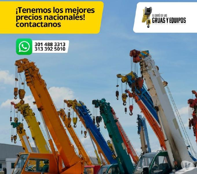SERVICIO DE ALQUILER DE GRUAS TELESCOPICAS Y CAMIONES GRUA