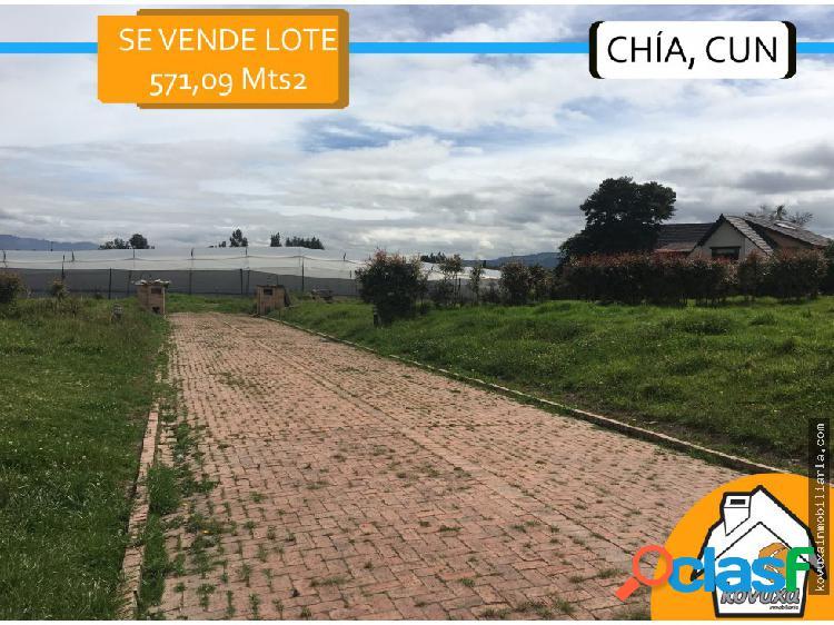 Se vende lote en Chía- 571 Mts2