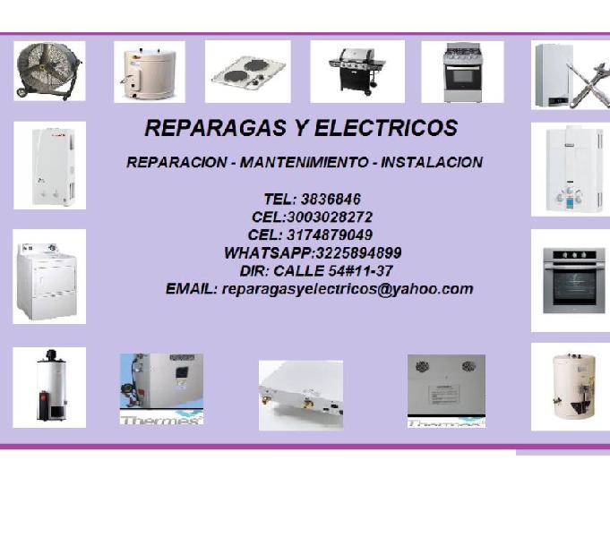 Servicio tecnico de Estufas, Hornos, Calentadores