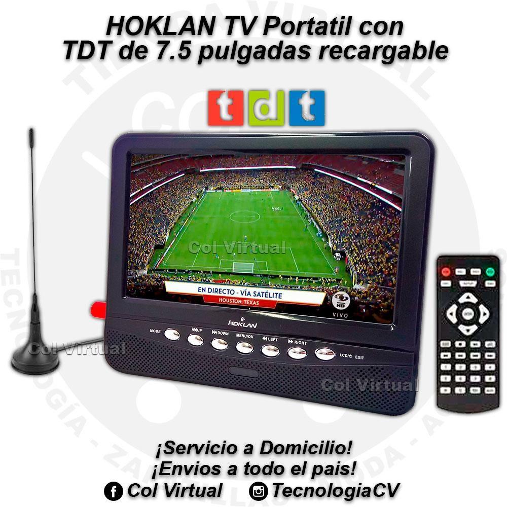 TV Portatil con TDT de 7.5 pulgadas recargable HOKLAN R