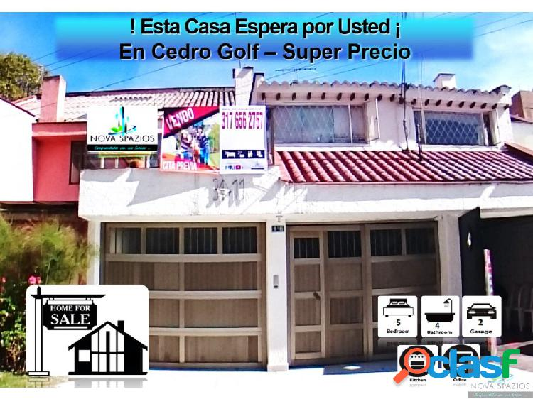 Vendo Casa Cedro Golf - 245mt2- Super Oportunidad