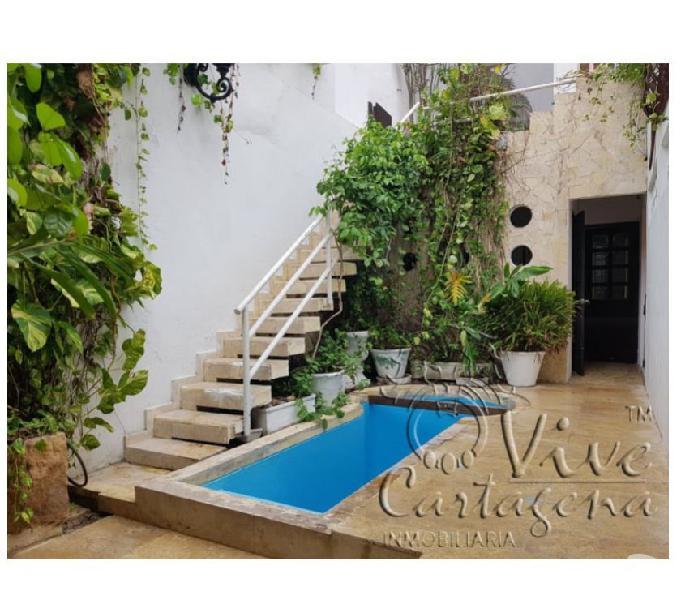 Venta de casa colonial en la ciudad amurallada de cartagena
