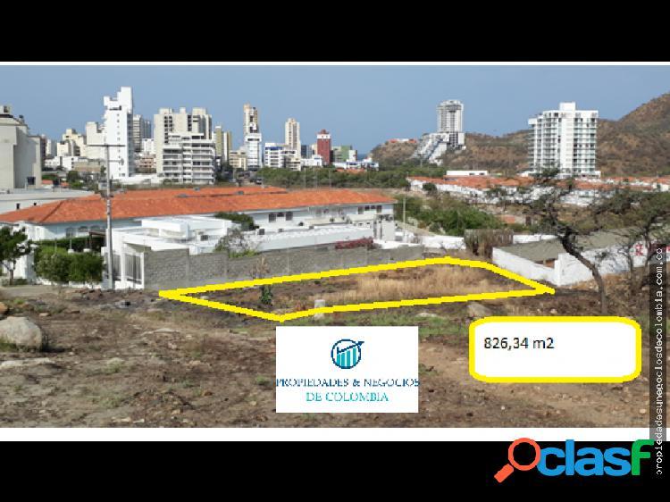 Venta de lote en Rodadero Reservado Santa Marta