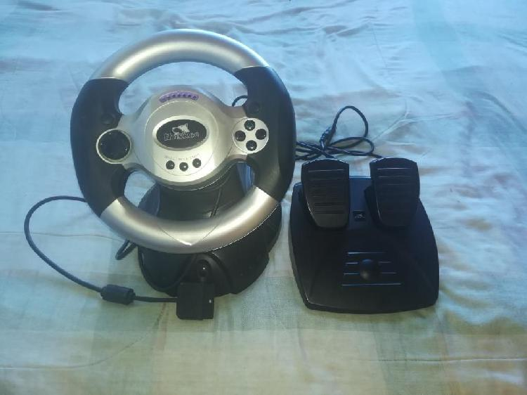 Volante Y Tapete Play Station 1 Y 2