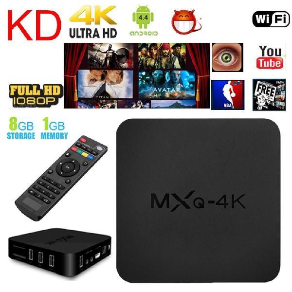 ANDROID TV BOX MXQ MOD 3229 4K 1G8G NEGRO