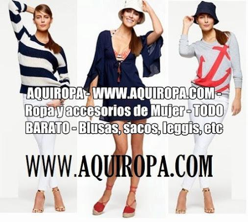 AQUIROPA - WWW.AQUIROPA.COM - Ropa y accesorios de Mujer -
