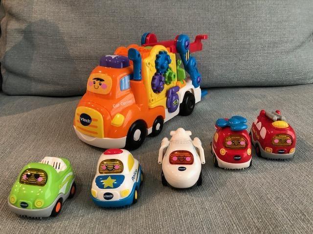 Camion multifunciones y Carros con Luces y Sonido