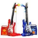 Karaoke Guitarra Roja Micrófono Parlanteo Juguete Niños