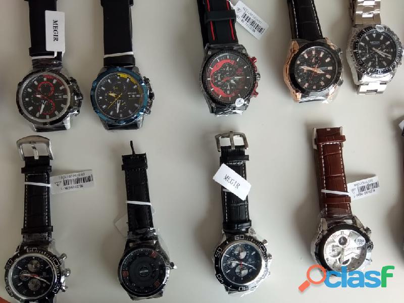 Relojes Megir para hombre y mujer