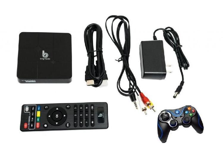 Tv Box 4k Brightside 64 Bits Con Control Inalámbrico Juegos