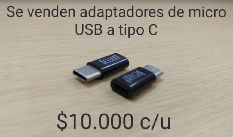 Adaptadores de micro USB a Tipo C
