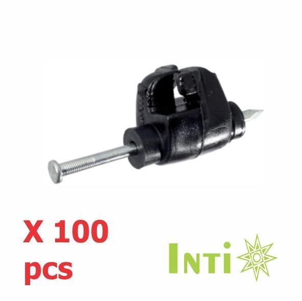 Aislador Para Cerca Eléctrica Pivote X 100 Pcs Con Clavo
