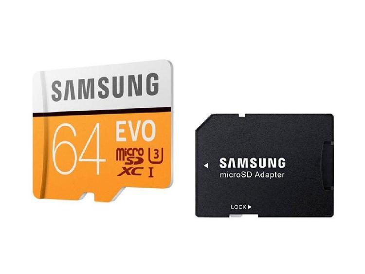 Tarjeta Memoria Micro Sd 64gb Samsung Clase 10 Graba 4k