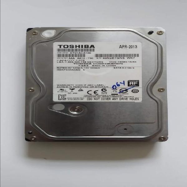 "Disco duro Toshiba 1TB SATA 6.0 Gb/s 3.5""Perfecto estado"