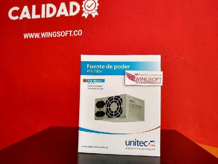 Fuente de Poder Unitec Atx-750w para Torre