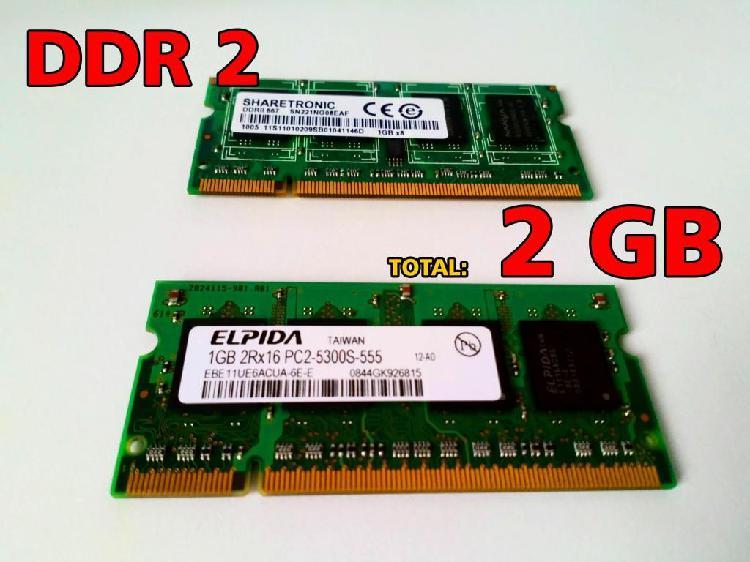 Memorias DDR2 2 Und de 1 GB