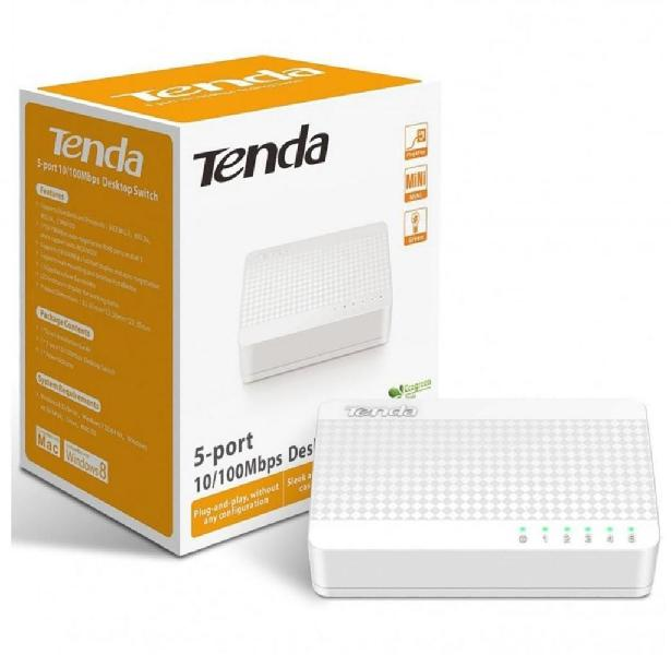 Switch 5 Puertos 10/100 Mbps Blanco Tenda S105