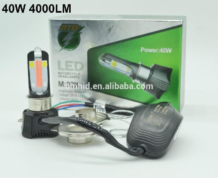 Luz Bombillo Led Carro Moto H4 4000lm Hi/low Con Luz Drl