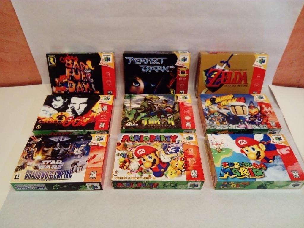 Nintendo 64 Cajas Para Juegos