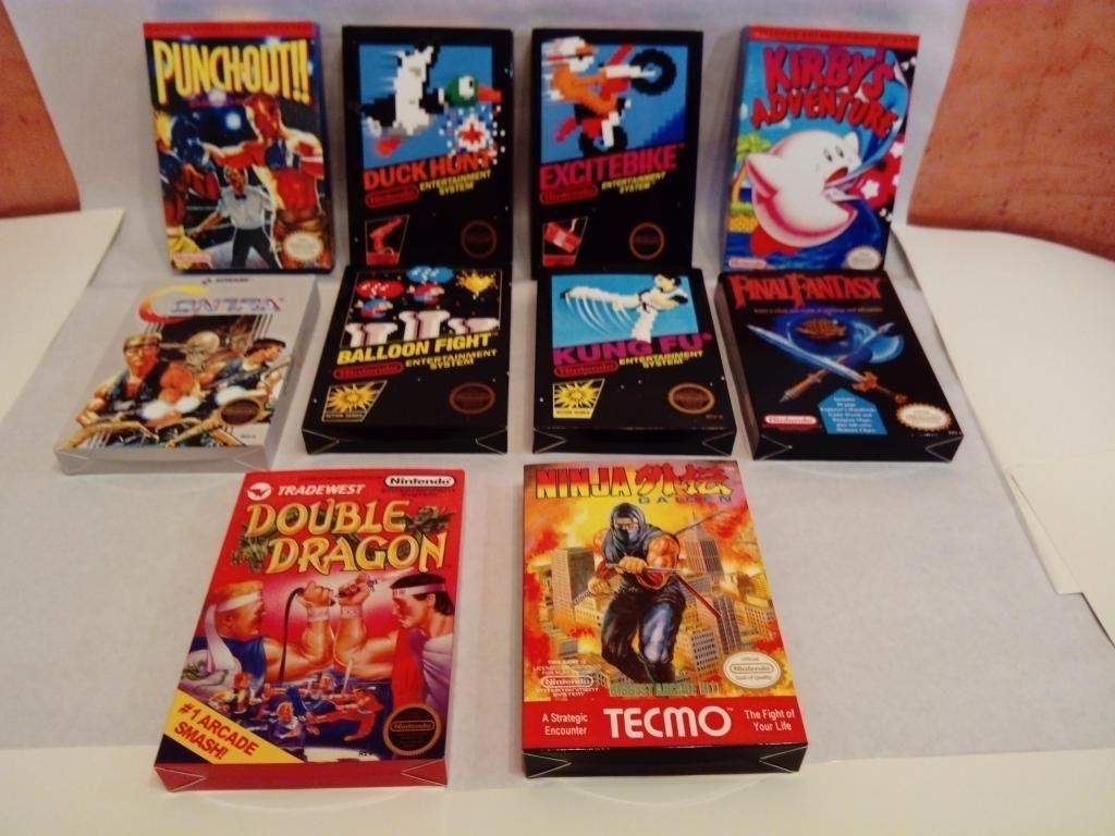 Nintendo Nes Cajas para Juegos