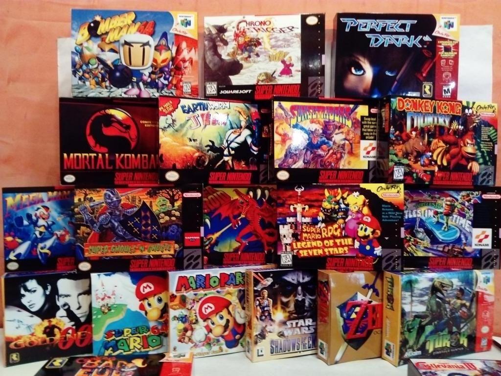 Nintendo, Super Nintendo, N64, Game Boy, Cajas Para Juegos