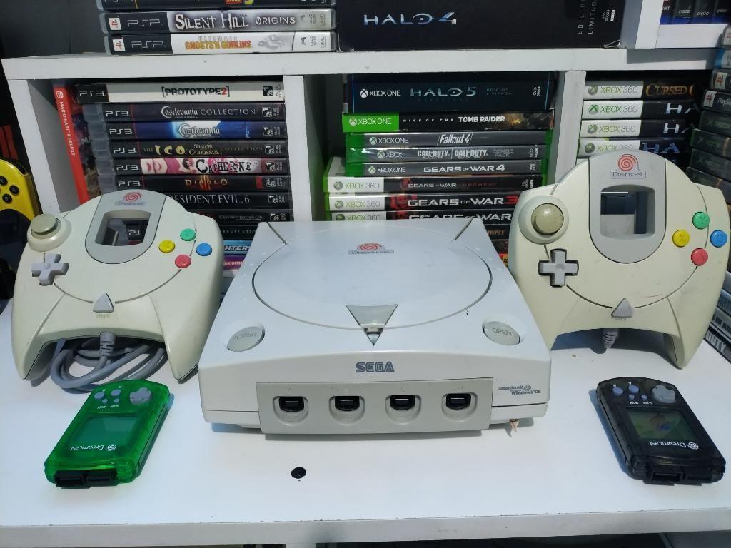 Sega Dreamcast 2 Controles 2 Memorias