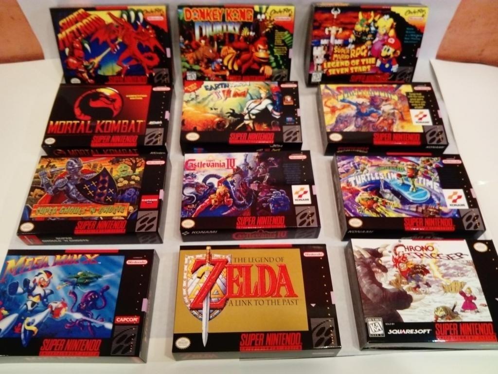 Super Nintendo Cajas Para Juegos
