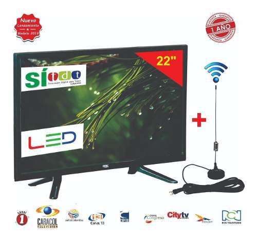 Televisor Led Full Hd 22 Pulgadas + Antena Tdt + Obs