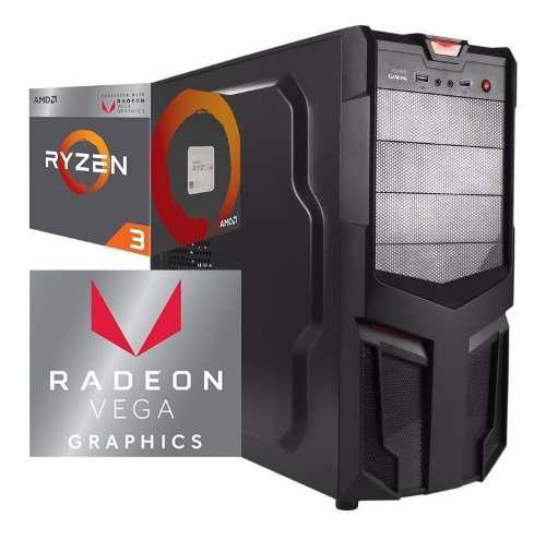 Torre Cpu Gamer Ryzen 3 2200g Vega 8 1tb 8gb Pc Wifi Gratis