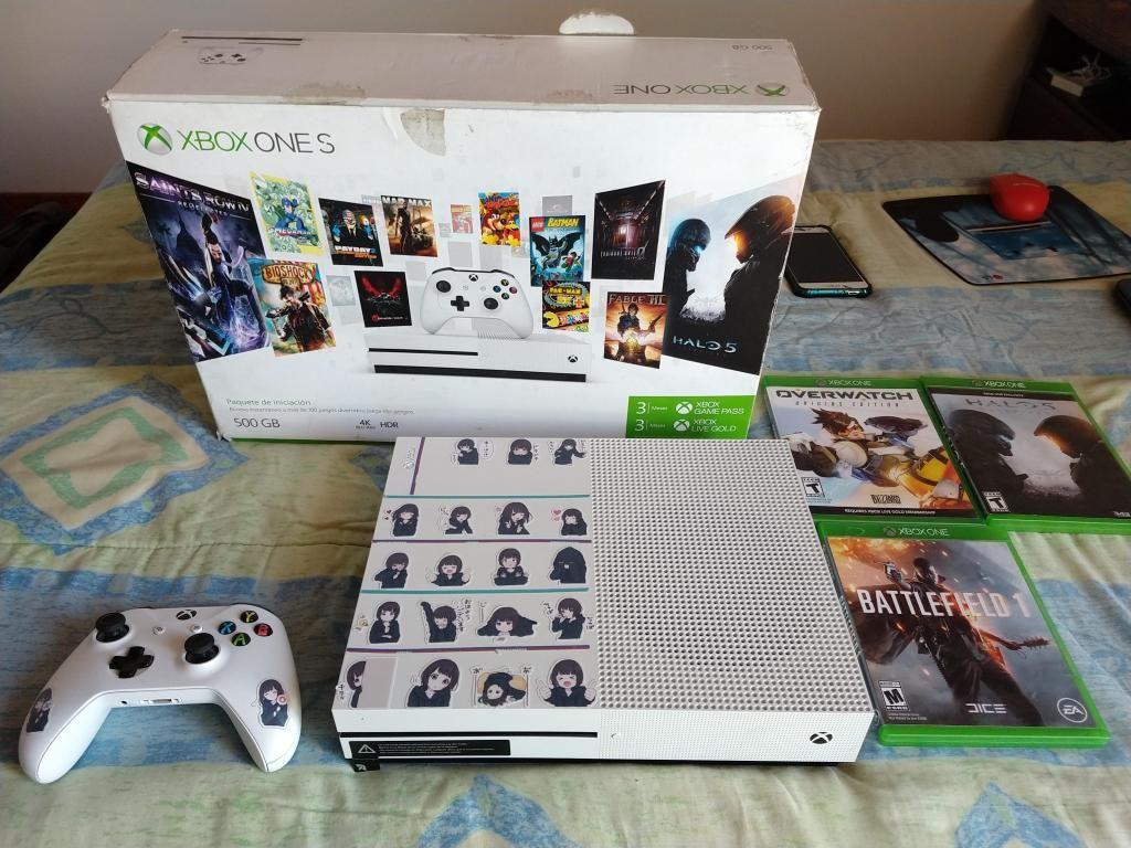 Vendo Consola Xbox One S 500GB