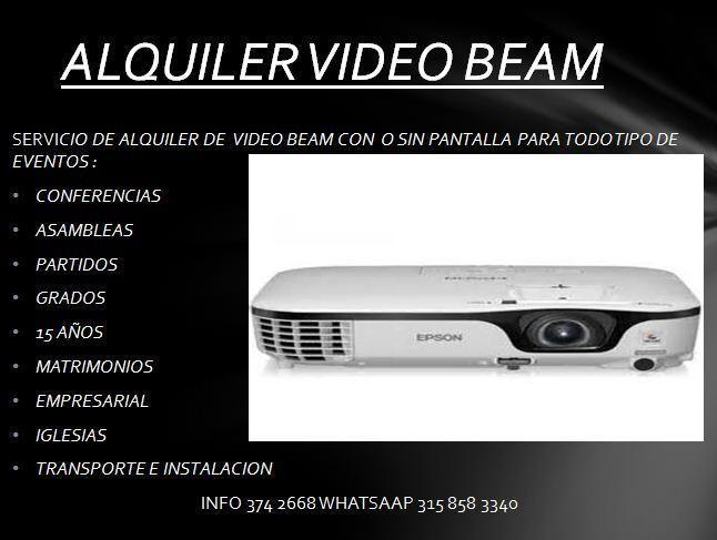 ALQUILER VIDEO BEAM,