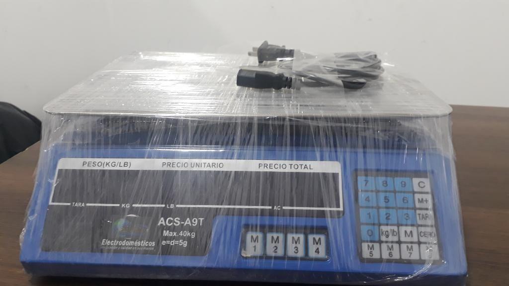 Bascula Acs A9t hasta 40 Kilogramos
