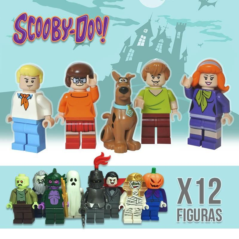 Minifiguras Tipo Lego Scooby Doo X12 Personajes Armables RF