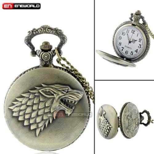 Reloj De Bolsillo Game Of Thrones Juego De Tronos Stark Got