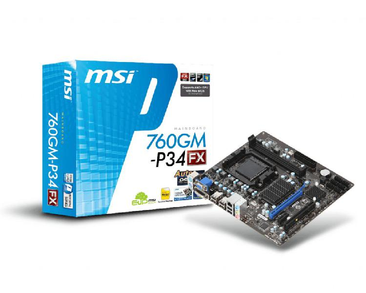 Combo Board y Procesador AMD Phenom II X4 955
