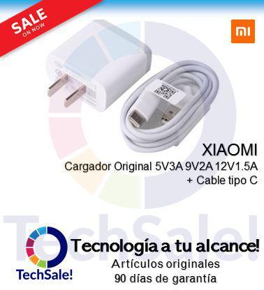 Charger Original Xiaomi Carga rapida 5V 3A Cable Tipo C