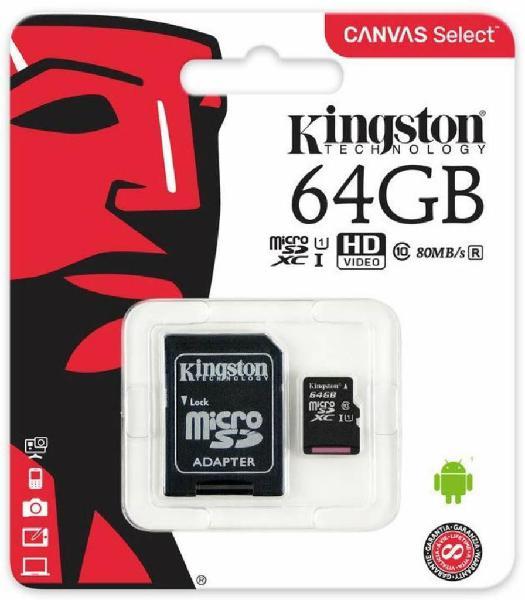 Memoria Micro Sd de 64gb Clase 10