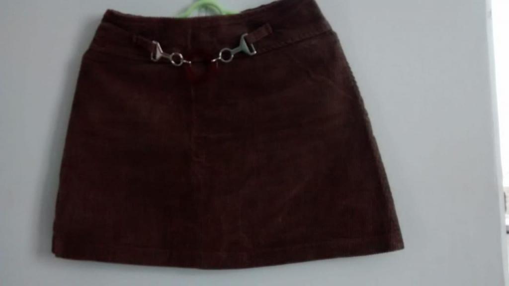 Mini faldas en pana talla s color chocolate, varios estilos